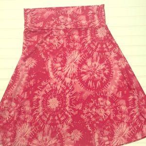NWOT Lularoe Madison Skirt Size XLPink Tie Dye